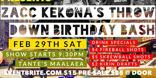 Zacc Kekona's Throw Down Birthday Bash