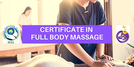 Certificate in Full Body Massage in Bundaberg tickets