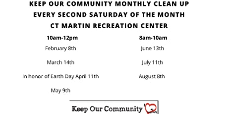 June Community Clean Up tickets