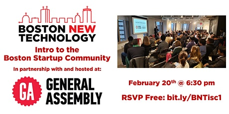 Intro to the Boston Startup Community tickets