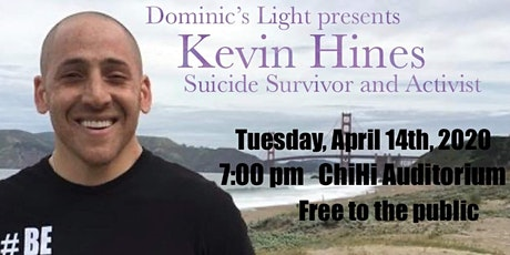 "Kevin Hines-Survivor, Author, Filmmaker ""Suicide Prevention/Awareness Event tickets"