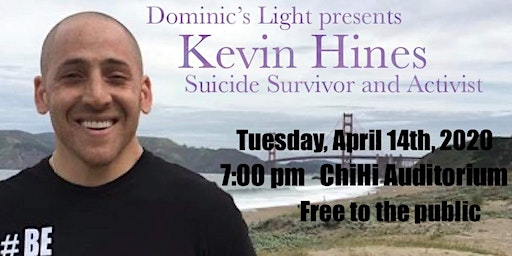 "Kevin Hines-Survivor, Author, Filmmaker ""Suicide Prevention/Awareness Event"
