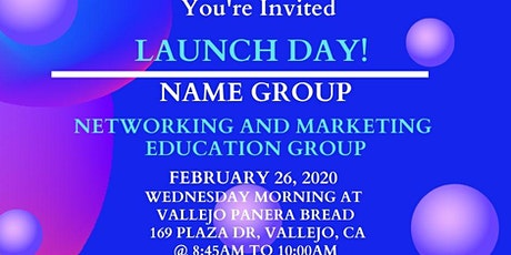 NAME GROUP LAUNCH tickets