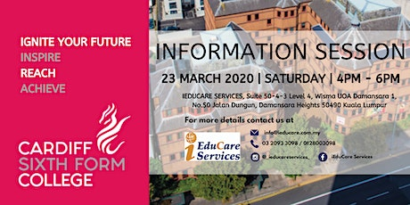 CARDIFF SIXTH FORM COLLEGE INFORMATION SESSION tickets