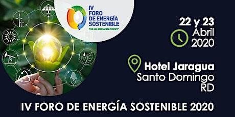 IV FORO DE ENERGÍA SOSTENIBLE 2020 entradas
