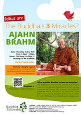 """Dhamma Talk """"What are The Buddha's 3 Miracles?"""" by Ajahn Brahm on 26 March 2020 tickets"""