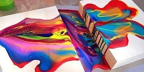 Paint Pour DIY tickets