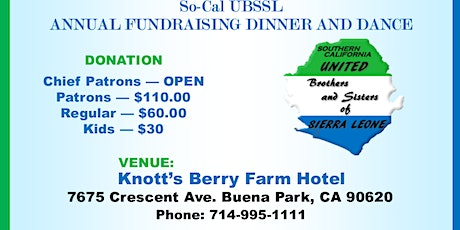 SoCal UBSSL Annual Dinner and Dance Fundraising Event tickets