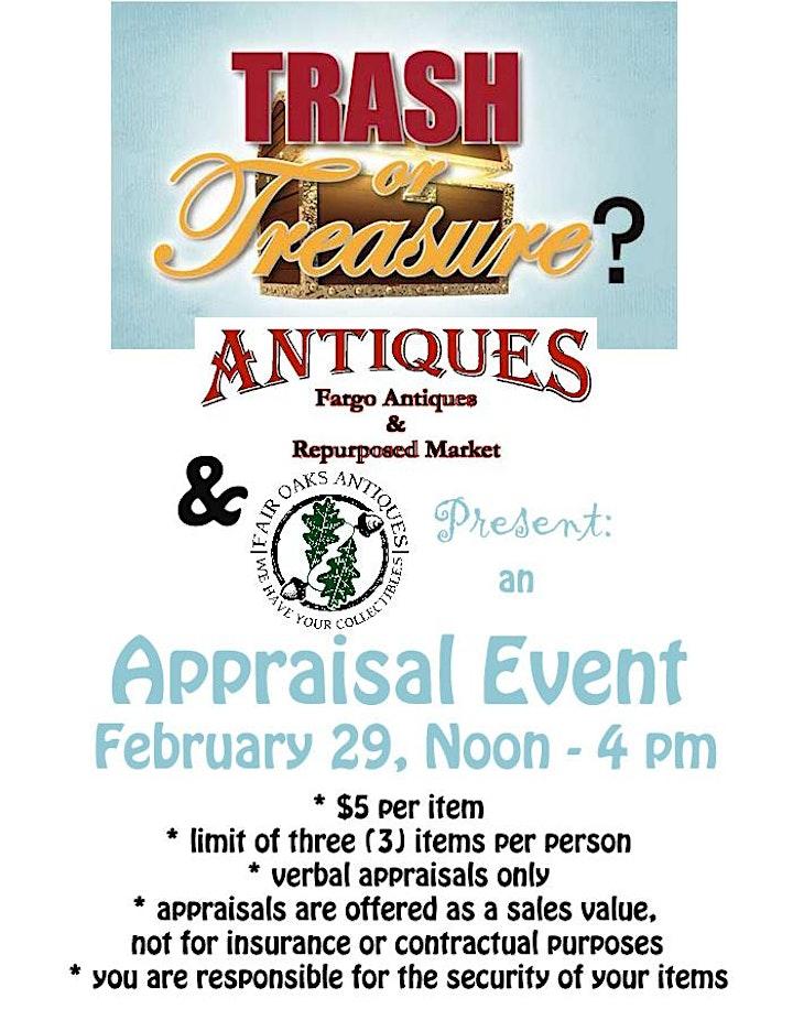 Trash Or Treasure? Fargo Antiques & Repurposed Market Appraisal Event image
