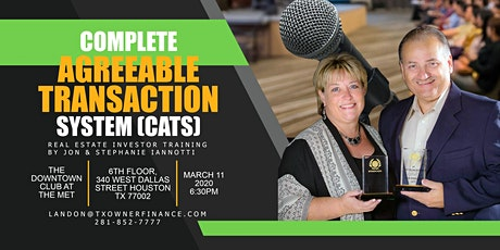 CATS, Real Estate Investor Training by Jon & Stephanie Iannotti! tickets