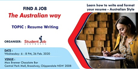 Find a job the Australian way tickets
