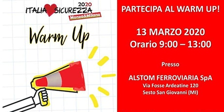 Warm Up Italia Loves Sicurezza - HUB Monza & Milano biglietti