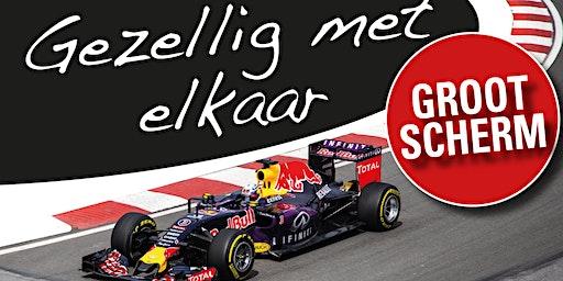 Formule 1 kijken op groot scherm