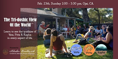 The Tri-Doshic View of the World - Learn to see Vata, Pitta & Kapha tickets