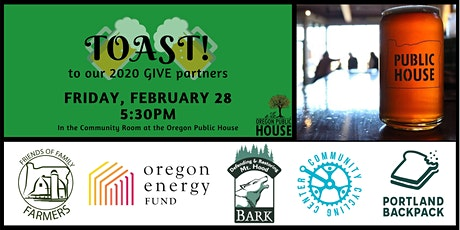 TOAST to our 2020 GIVE Partners tickets