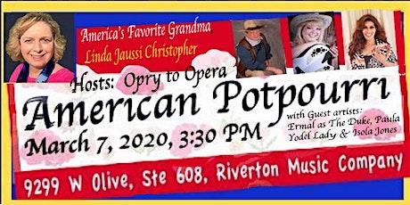 American Potpourri tickets