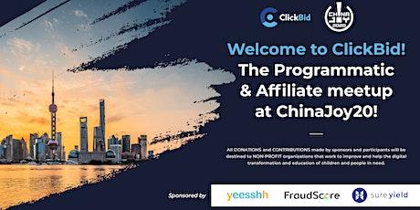 ClickBid ChinaJoy 2020 tickets