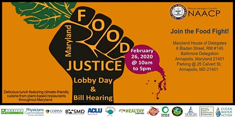 F0OD JUSTICE LOBBY DAY - NAACP PRINCE GEORGE'S COUNTY tickets