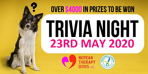 Trivia Night Hosted by Nepean Therapy Dogs
