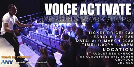 VOICE ACTIVATE SINGING WORKSHOP - CROYDON tickets
