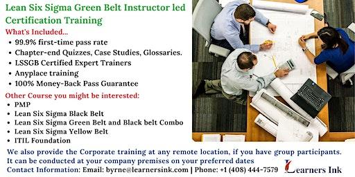 Lean Six Sigma Green Belt Certification Training Course (LSSGB) in Santa Rosa