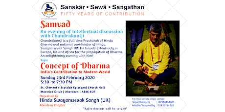 Samvad: The Concept of Dharma-India's Contribution to Modern World tickets