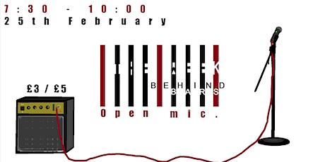 Week Behind Bars ~ Live (Poetry, Rap & Music, Open Mic) @ Hatch (Feb) tickets