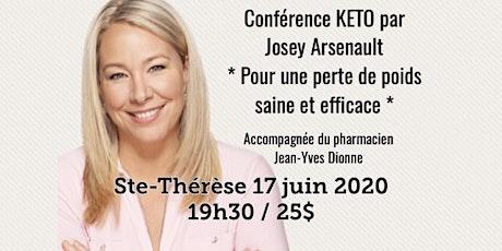 ST-THÉSÈSE - Conférence KETO - Pour une perte de poids saine et efficace! 25$ billets