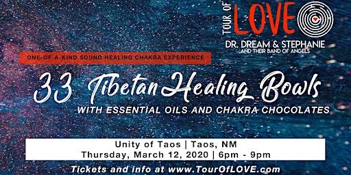 33 Tibetan Healing Bowls, Essential Oils & Chocolate in Taos, NM