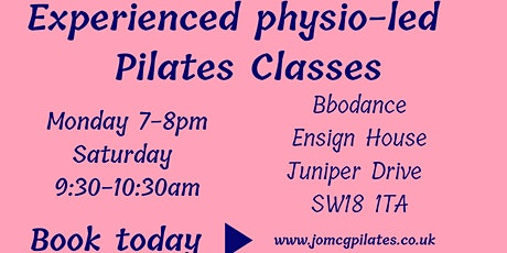 Experienced physio pilates classes overlooking the Thames! tickets