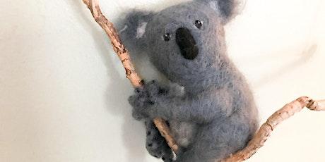 Needle Felted Koala One-Day Workshop tickets
