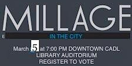 Millages in the City tickets