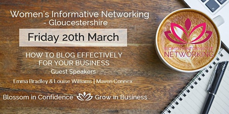 WIN NETWORKING GLOS - HOW TO BLOG EFFECTIVELY FOR BUSINESS tickets