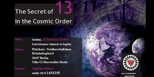 The Secret of 13 in the Cosmic Order