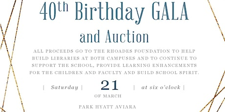 The Rhoades School: 40th Birthday Gala tickets
