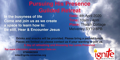 Pursuing His Presence - Guided Retreat