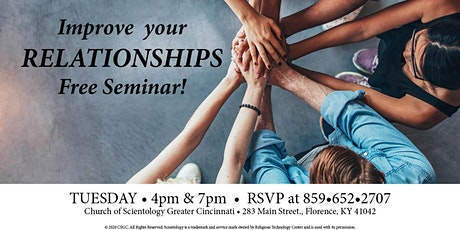 Free seminar - How to Improve your relationships tickets