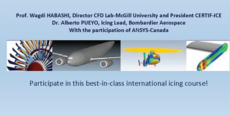 18th International Icing Course-Simulation Methods (CbA) for the In-flight Icing Certification of Aircraft,  Rotorcraft and Jet Engines-*Event postponed due to COVID-19 worldwide situation.New date will be announced as soon as international travel is safe tickets