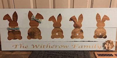 Bunny Family Sign