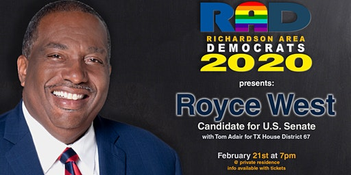 Come See Texas Senator Royce West. He is  running