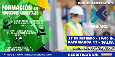 Mediciones Ambientales - Protocolos Ambientales tickets