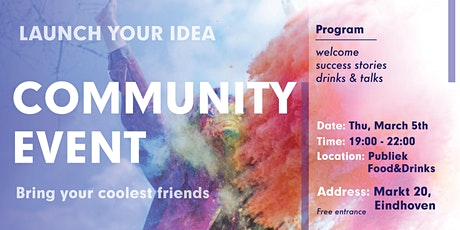 Launch Your Idea-Community Event tickets