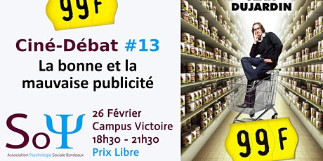 Ciné-débat #13 :  99 F de Jan Kounen avec Jean Dujardin billets