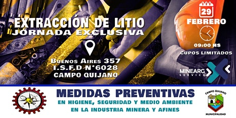 Extracción de Litio - Medidas Preventivas tickets