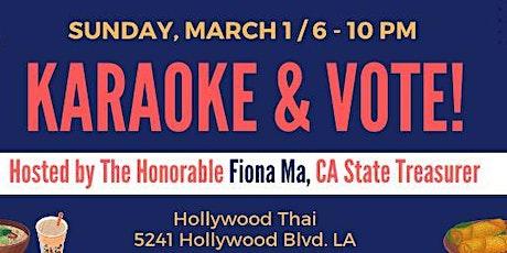Karaoke & Vote tickets
