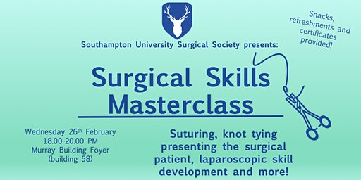 Surgical Skills Masterclass in partnership with Wessex Future Surgeons