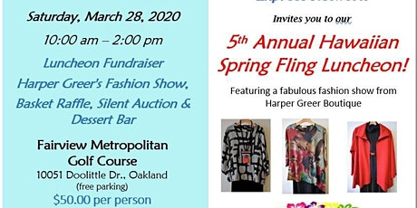5th Annual Hawaiian Spring Fling Luncheon tickets