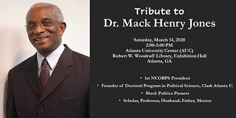 A Tribute to Dr. Mack Henry Jones at the 51st NCOBPS Annual Conference tickets