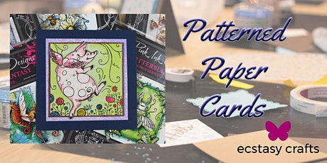 Patterned Paper Cards tickets