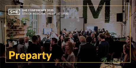 Preparty for Partners & Speakers @Mesh Tickets
